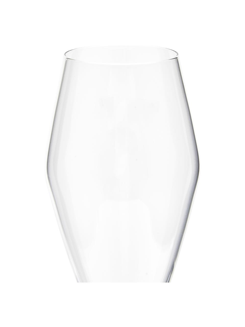 Flute champagne in vetro soffiato Ays 4 pz, Vetro, Trasparente, Ø 4 x Alt. 27 cm