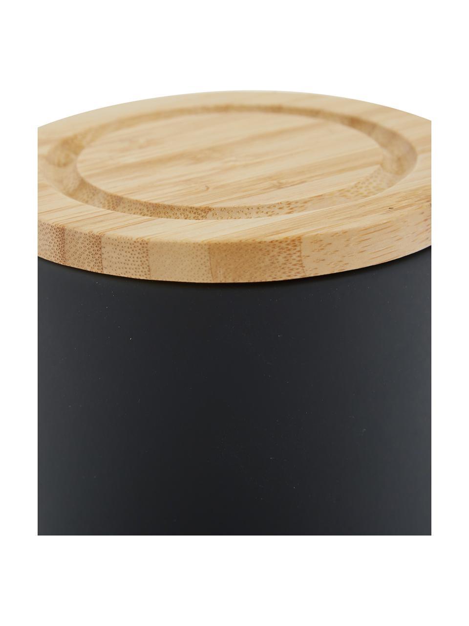 Aufbewahrungsdose Stak, verschiedene Größen, Dose: Keramik, Deckel: Bambusholz, Schwarz, Bambus, Ø 10 x H 13 cm