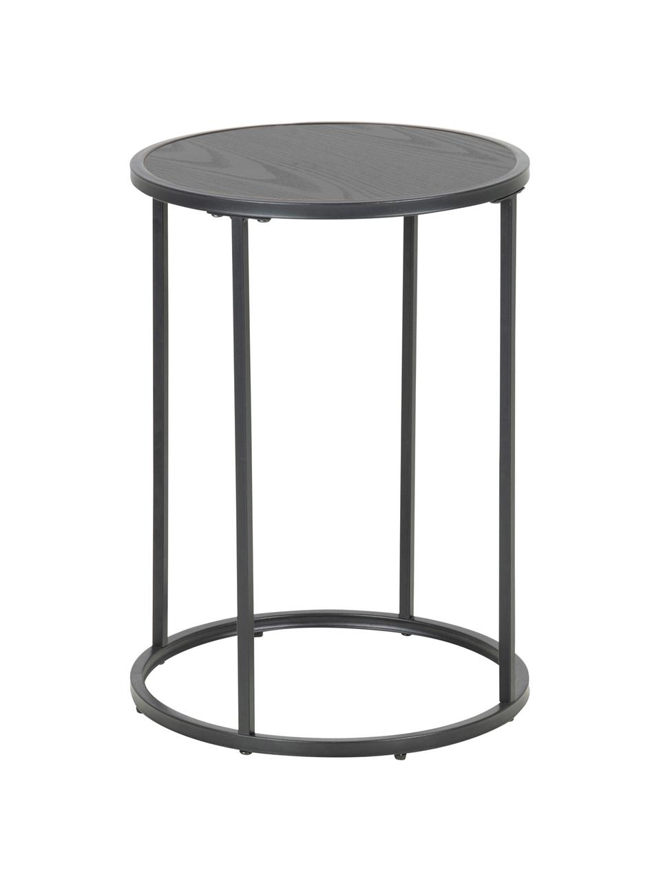 Table d'appoint ronde Seaford, Noir