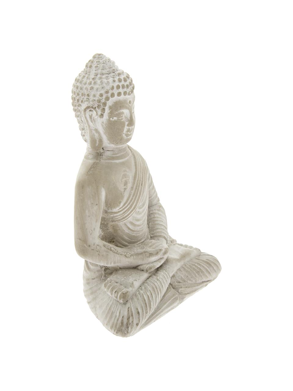 Decoratieve objectenset Buddha, 2-delig, Beton, Lichtgrijs, 9 x 14 cm