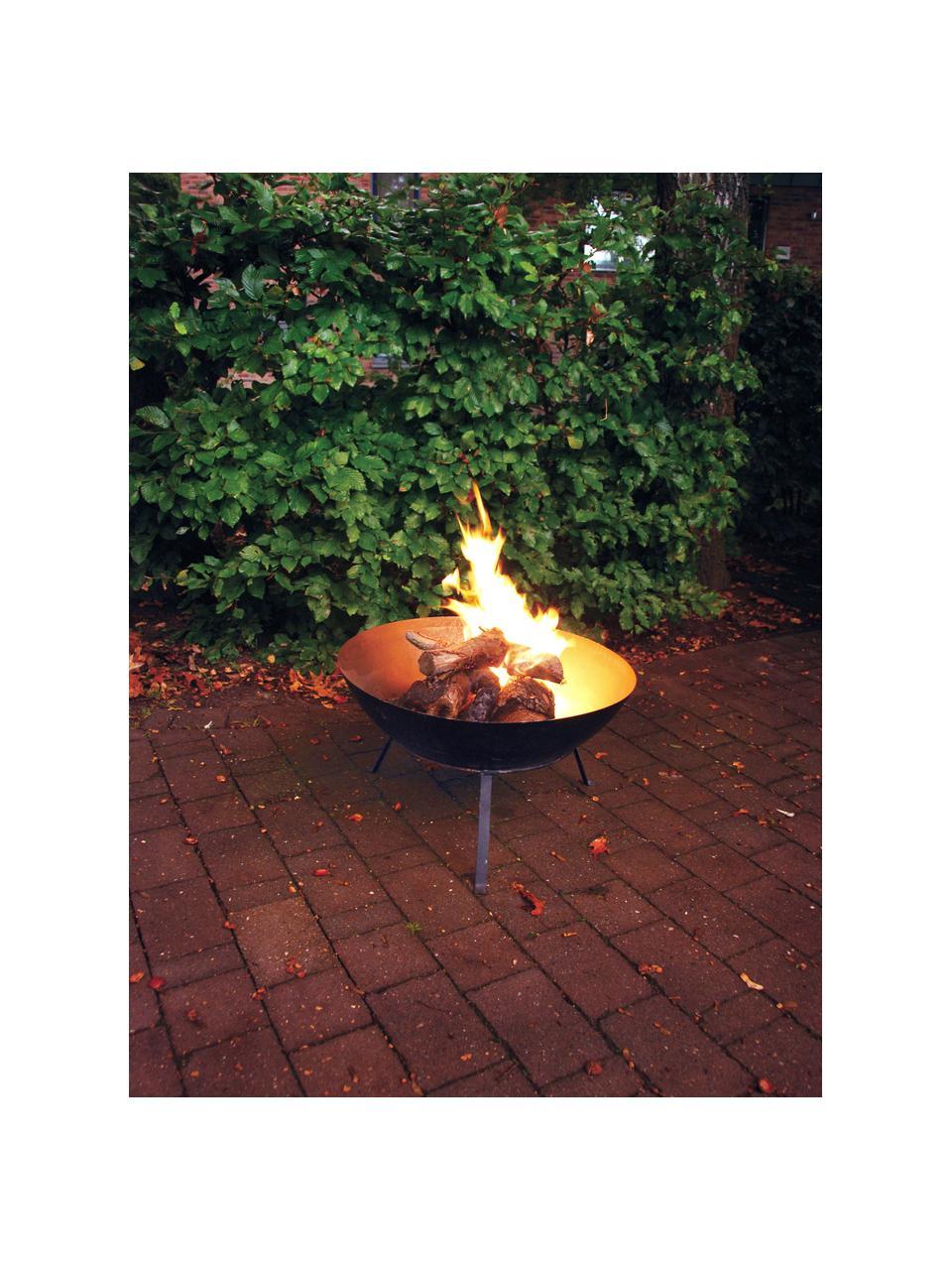 Braciere nero Blaze, Metallo rivestito, Nero, Ø 59 x Alt. 35 cm