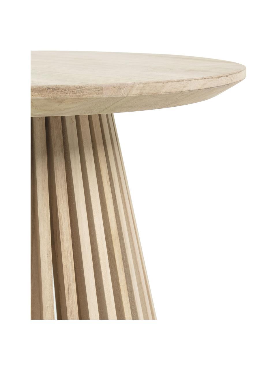 Table d'appoint ronde bois Jeanette, Bois de teck