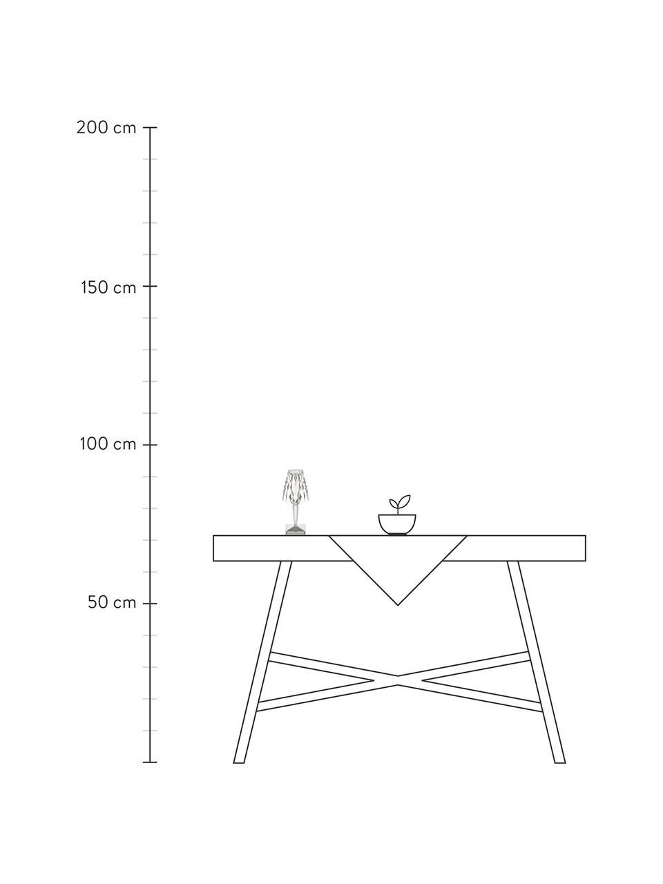 Kleine Mobile Tischlampe Battery, Lampenschirm: Kunststoff, Lampenfuß: Kunststoff, Transparent, Ø 12 x H 26 cm