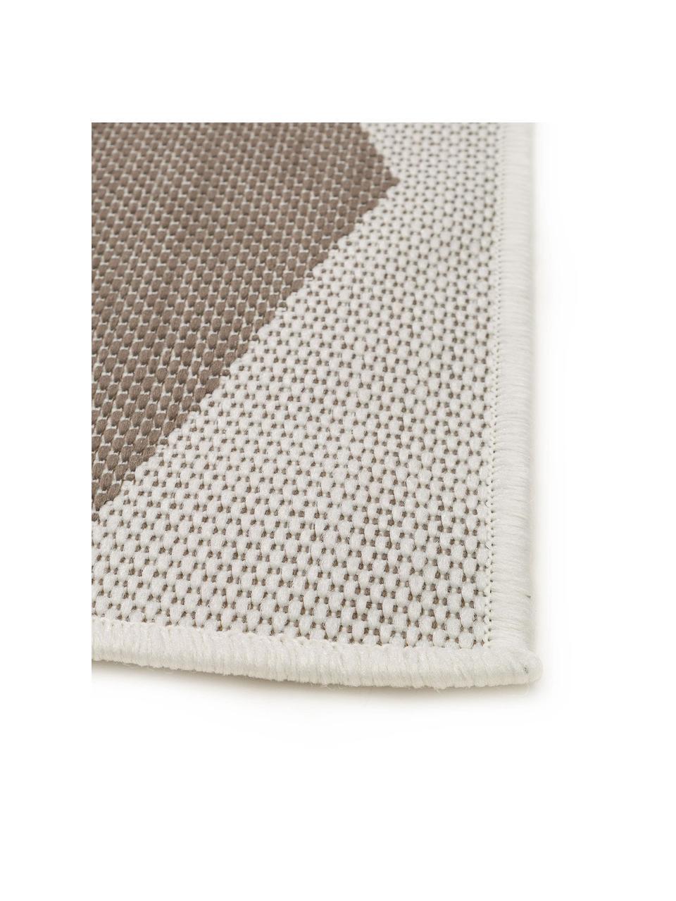 In- & outdoor vloerkleed met patroon Nillo in beige/crèmekleur, 100% polyethyleen, Lichtgrijs, taupe, B 120 x L 170 cm (maat S)
