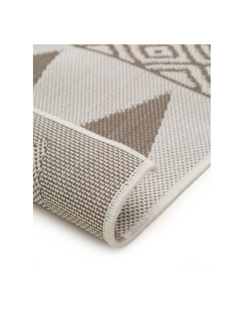 Gemusterter In- & Outdoor-Teppich Nillo in Beige/Creme, 100% Polyethylen, Hellgrau, Taupe, B 120 x L 170 cm (Größe S)