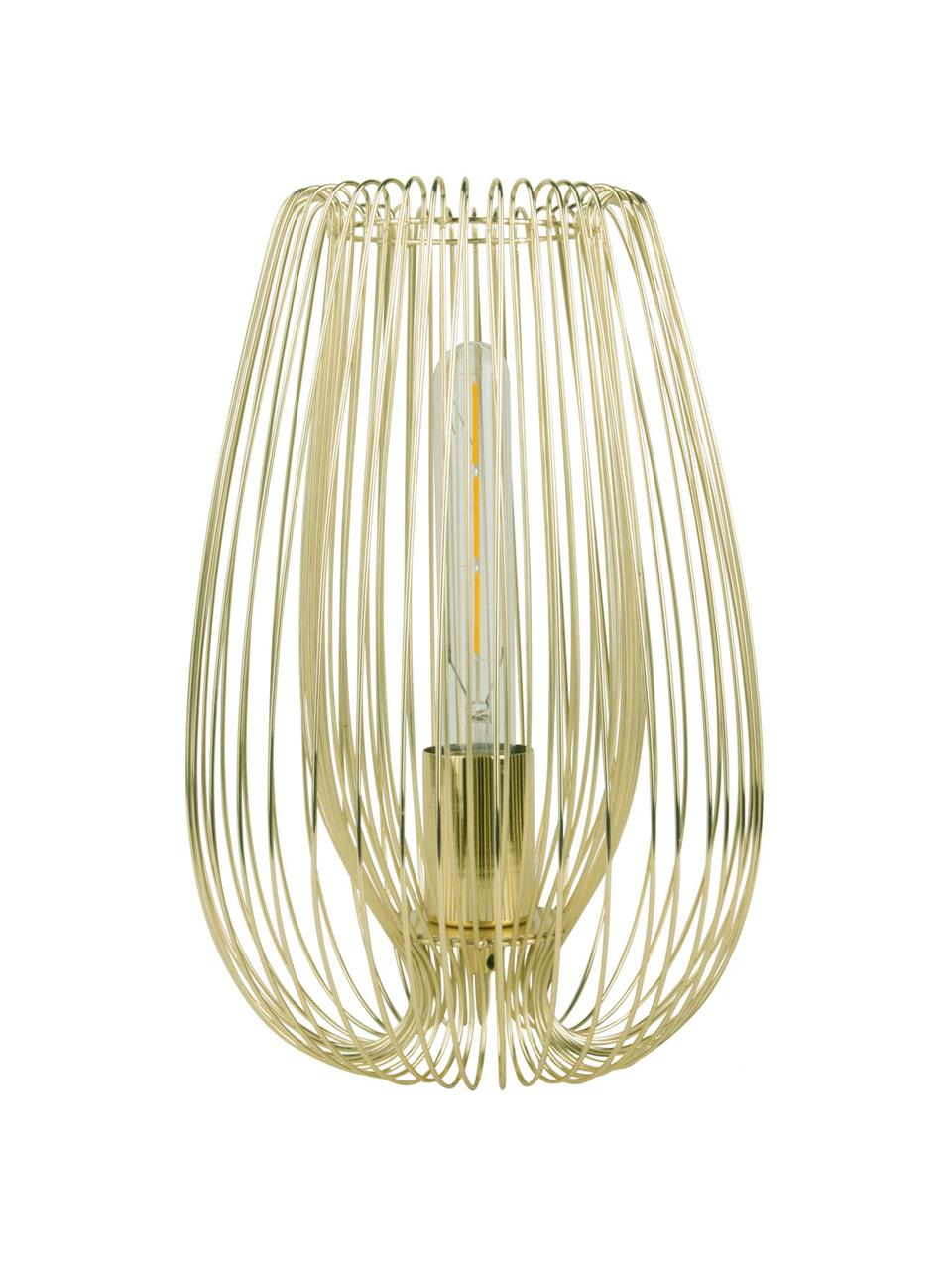 Lampada da tavolo retrò in metallo Lucid, Lampada: metallo verniciato, Ottonato, Ø 22 x Alt. 33 cm