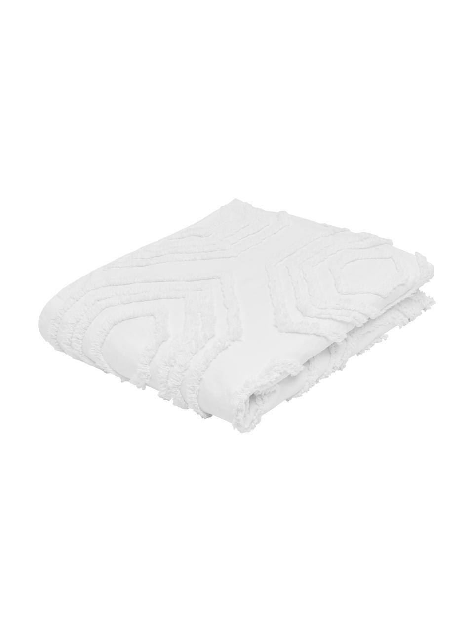 Bedsprei Faye met getuft patroon, 100% katoen, Wit, B 240 x L 260 cm (voor bedden van 160 x 200)