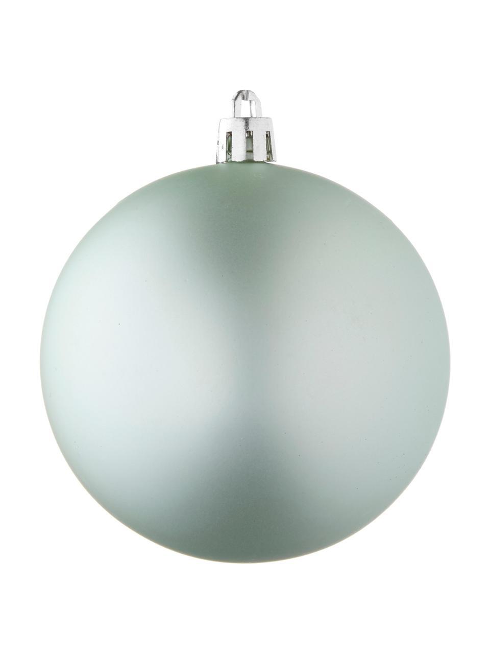 Weihnachtskugel-Set Natalie, 46-tlg., Kunststoff, Minzgrün, Set mit verschiedenen Grössen