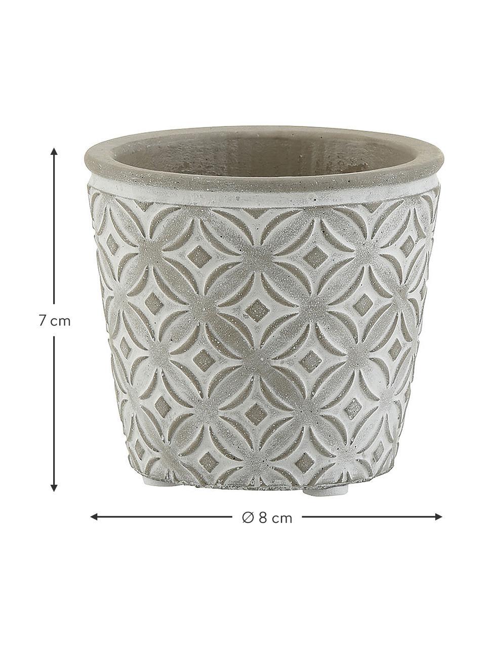 XS plantenpot Oriental, Beton, Betongrijs, Ø 8 x H 7 cm