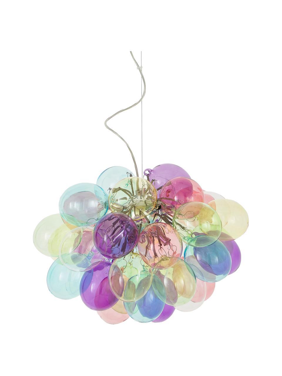 Lampada a sospensione con sfere in vetro Gross, Baldacchino: metallo rivestito, Multicolore, Ø 50 cm
