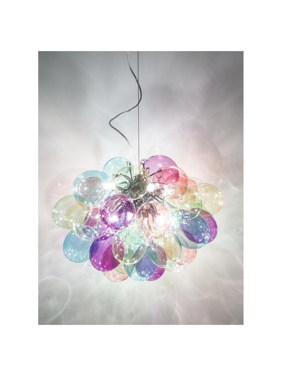 Hanglamp met glazen bollen Gross, Baldakijn: gecoat metaal, Multicolour, Ø 50 cm