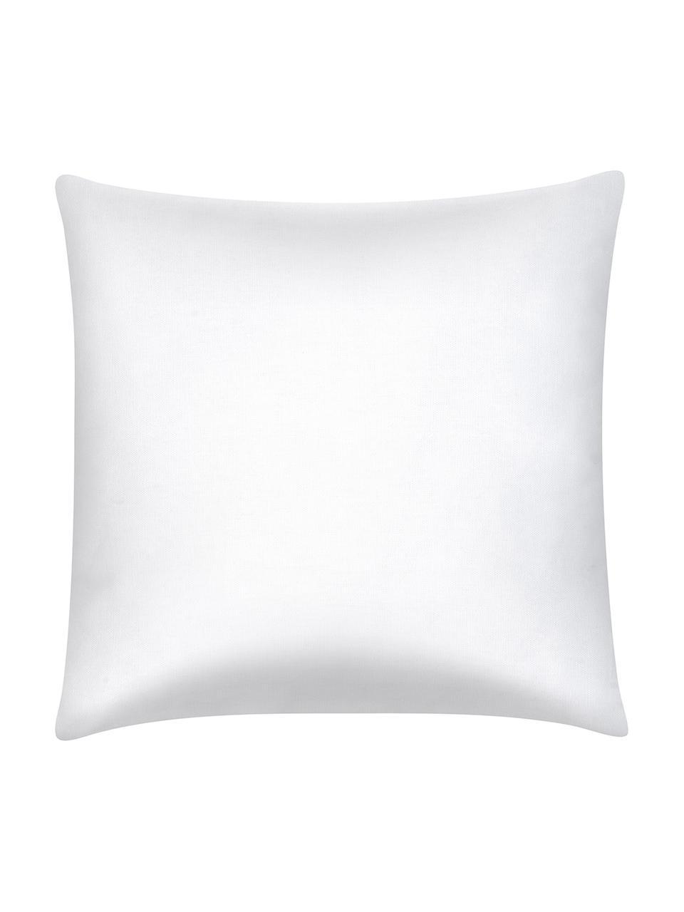 Housse de coussin pur coton imprimé aquarelle Crabby, Bleu, blanc