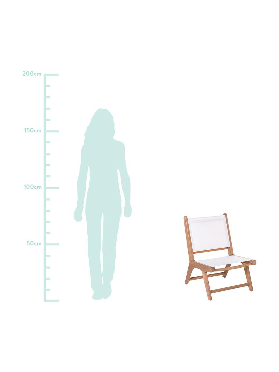Garten-Loungesessel Nina aus Akazienholz, Gestell: Akazienholz, massiv, Weiß, B 50 x T 64 cm