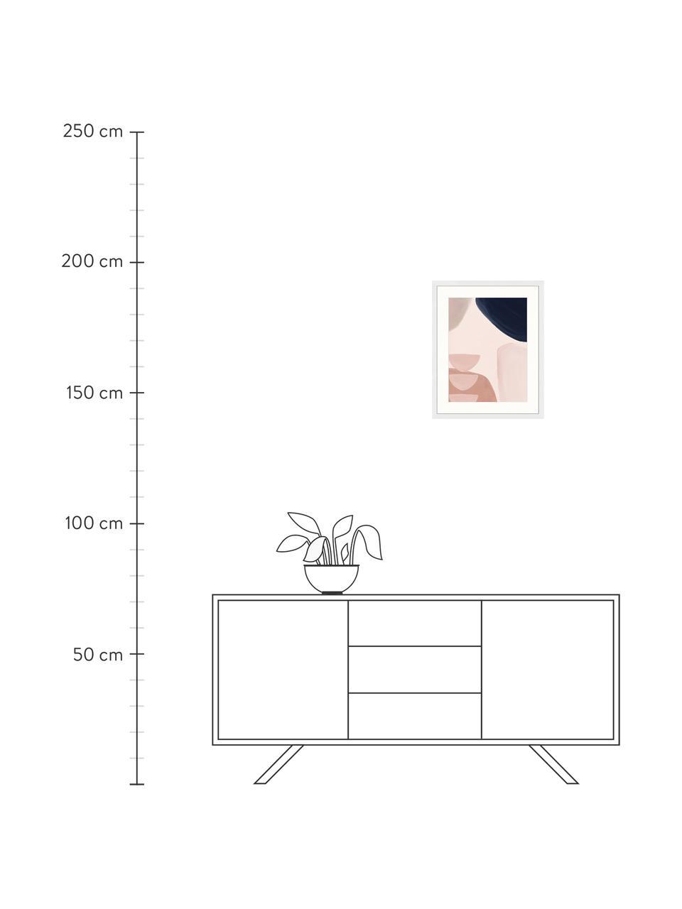 Gerahmter Digitaldruck Yenge, Bild: Digitaldruck auf Papier, , Rahmen: Holz, lackiert, Front: Plexiglas, Mehrfarbig, 43 x 53 cm