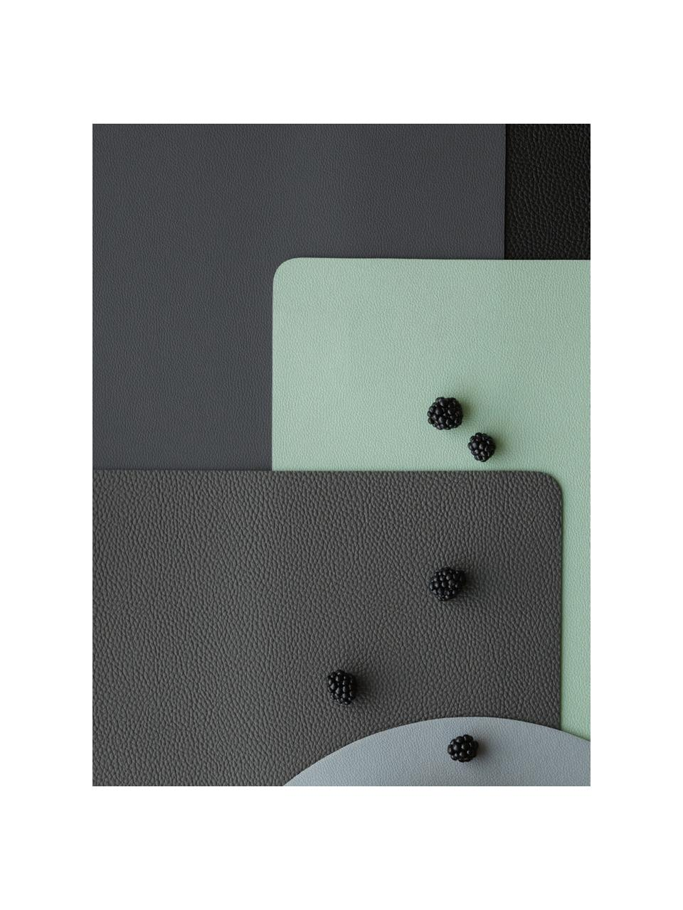 Tovaglietta americana in similpelle Pik 2 pz, Materiale sintetico (PVC), Verde menta, Larg. 33 x Lung. 46 cm