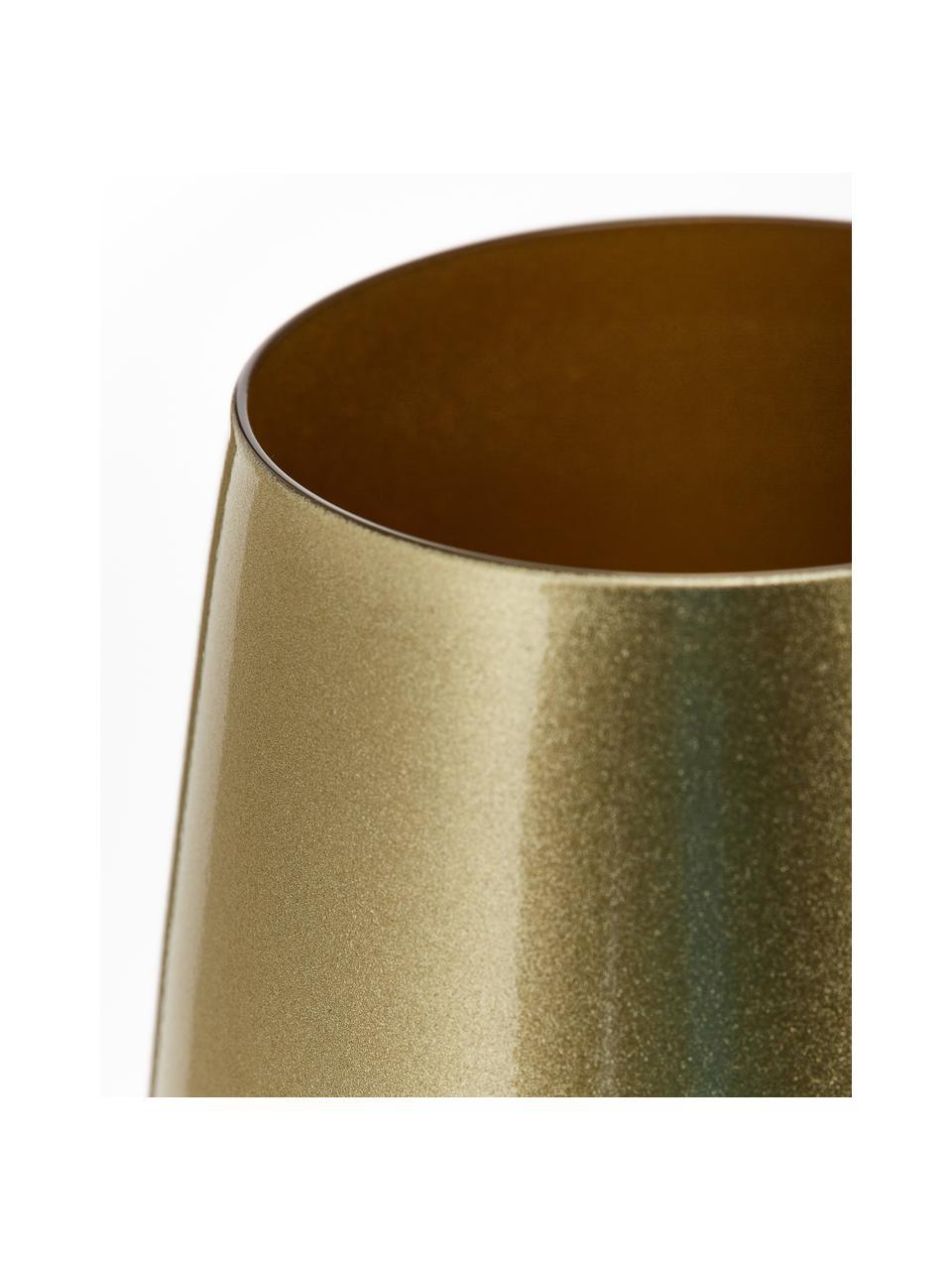 Kryształowa szklanka do koktajli Elements, 6 szt., Szkło kryształowe, powlekane, Odcienie złotego, Ø 9 x W 12 cm