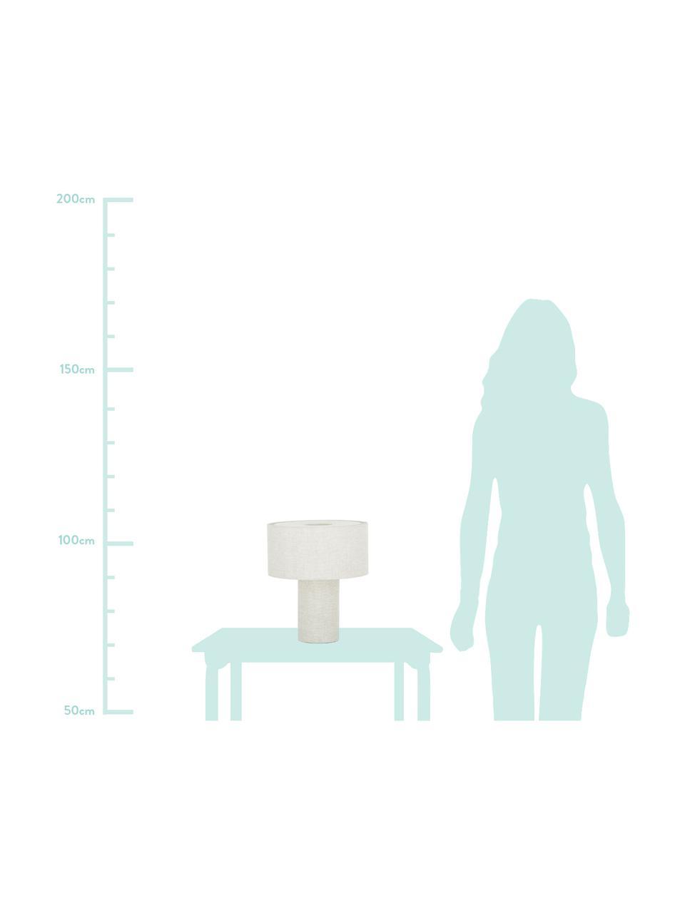 Klein tafellamp Ron van stof, Lampenkap: textiel, Lampvoet: textiel, Diffuser: textiel, Lampenkap: grijs. Lampvoet: grijs. Snoer: wit, Ø 30 x H 35 cm
