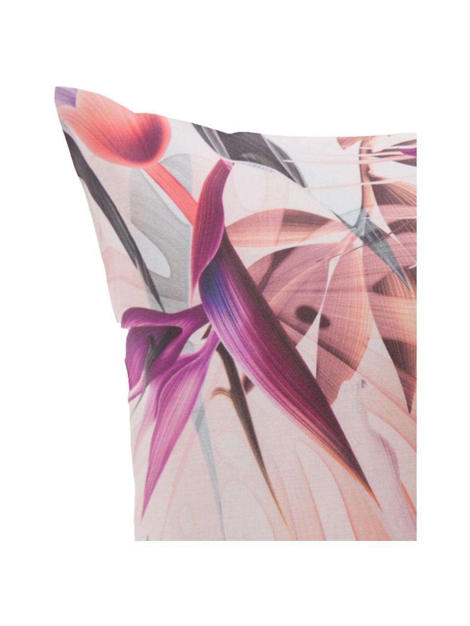 Parure copripiumino in cotone Flew, Cotone, Fronte: multicolore Retro: bianco, 200 x 200 cm