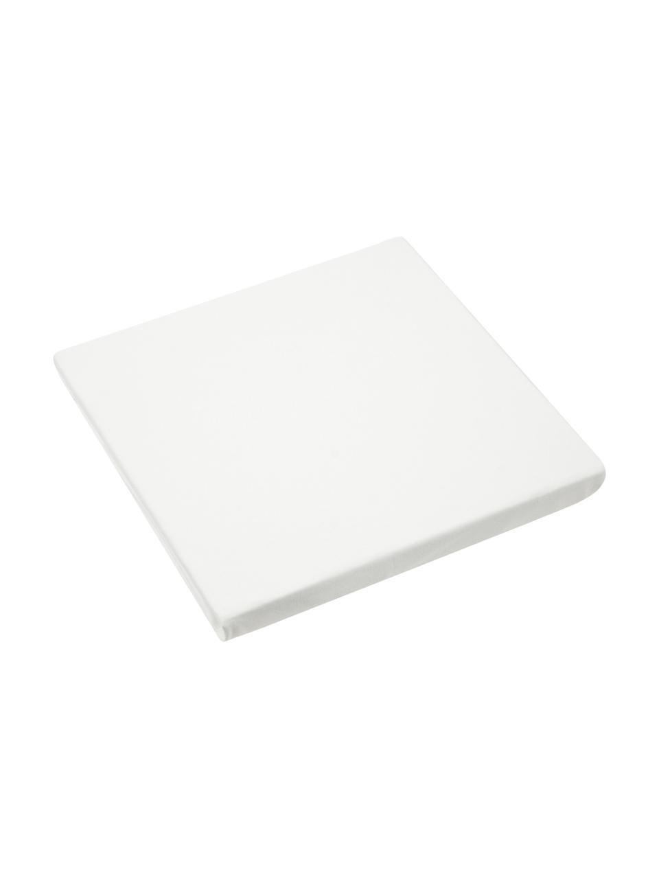 Lenzuolo con angoli boxspring in jersey-elastan color crema Lara, 95% cotone, 5% elastan, Color crema, 90 x 200 cm