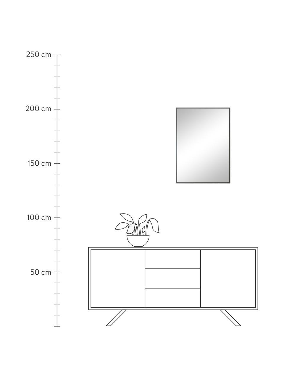 Prostokątne lustro ścienne Alpha, Szary, S 50 x W 70 cm