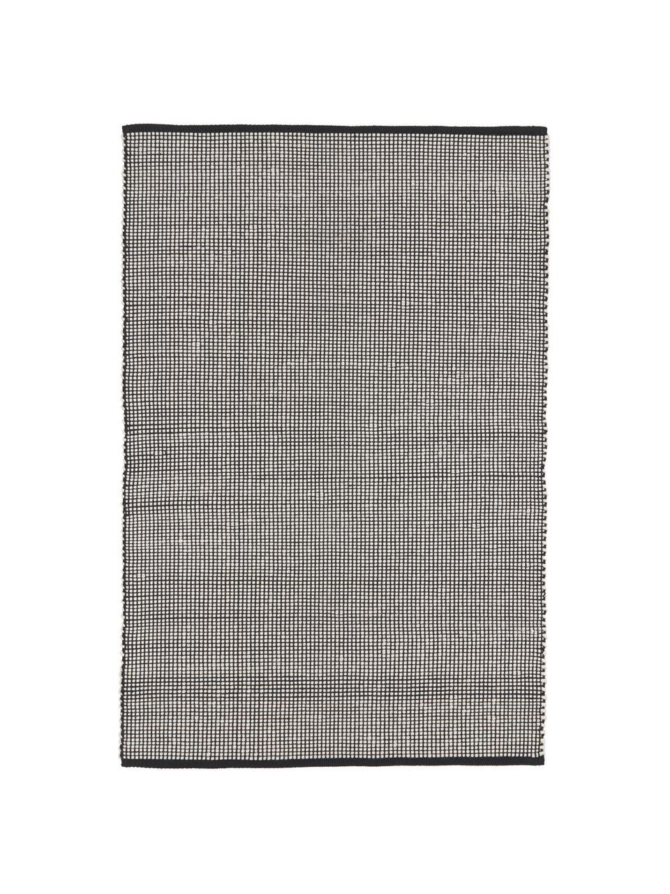 Ręcznie tkany dywan z wełny Amaro, Czarny, kremowobiały, S 200 x D 300 cm (Rozmiar L)