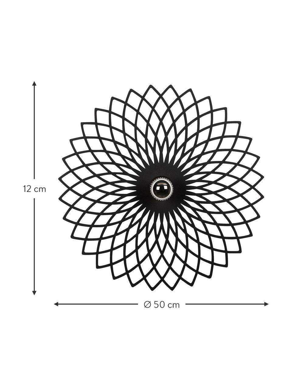 Design Wand- und Deckenleuchte Fellini, Lampenschirm: Metall, beschichtet, Schwarz, Ø 50 x T 12 cm