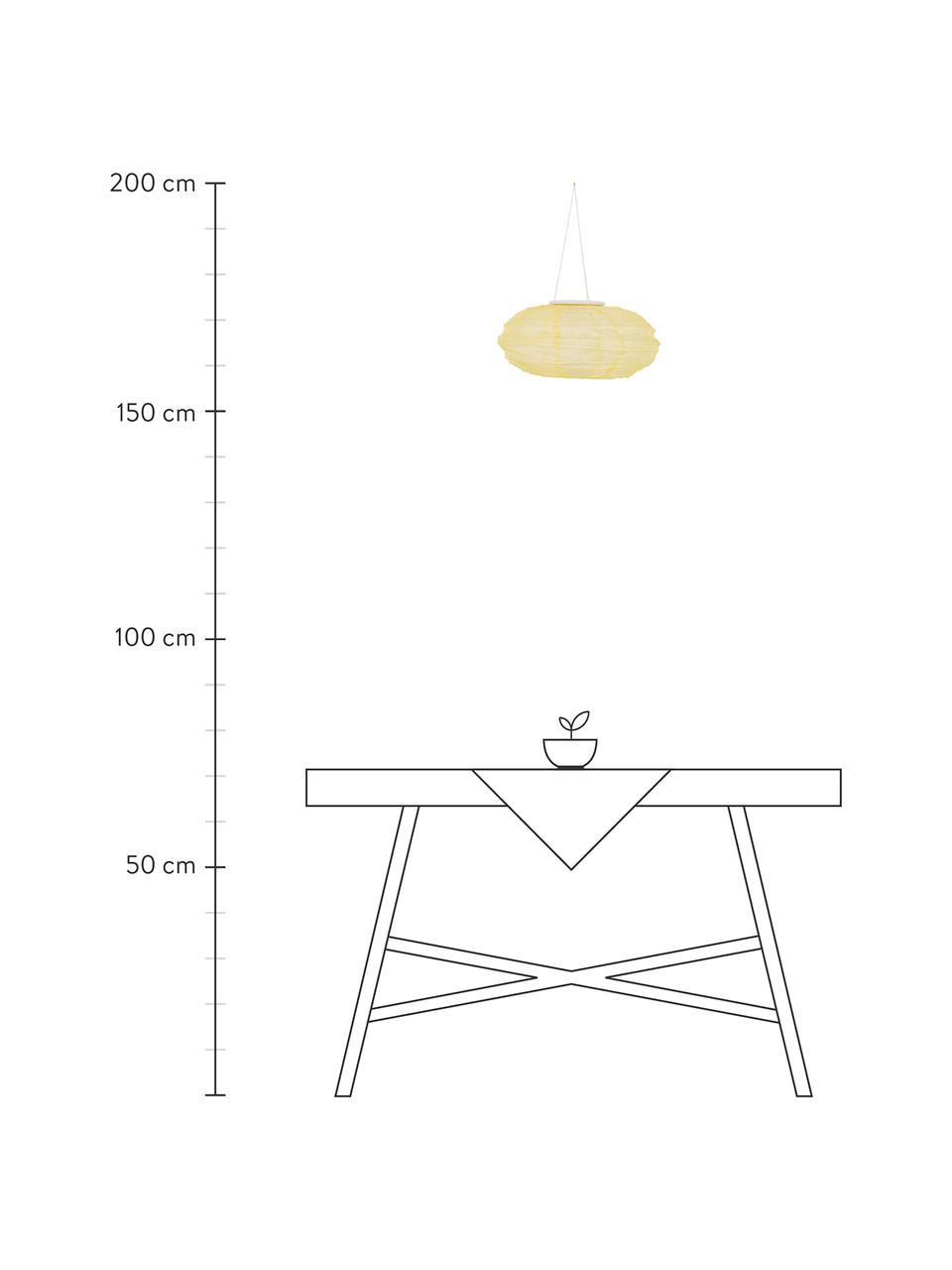 Solar Hängelampe Festival, Lampenschirm: Polyester, Beige, Ø 35 x H 19 cm