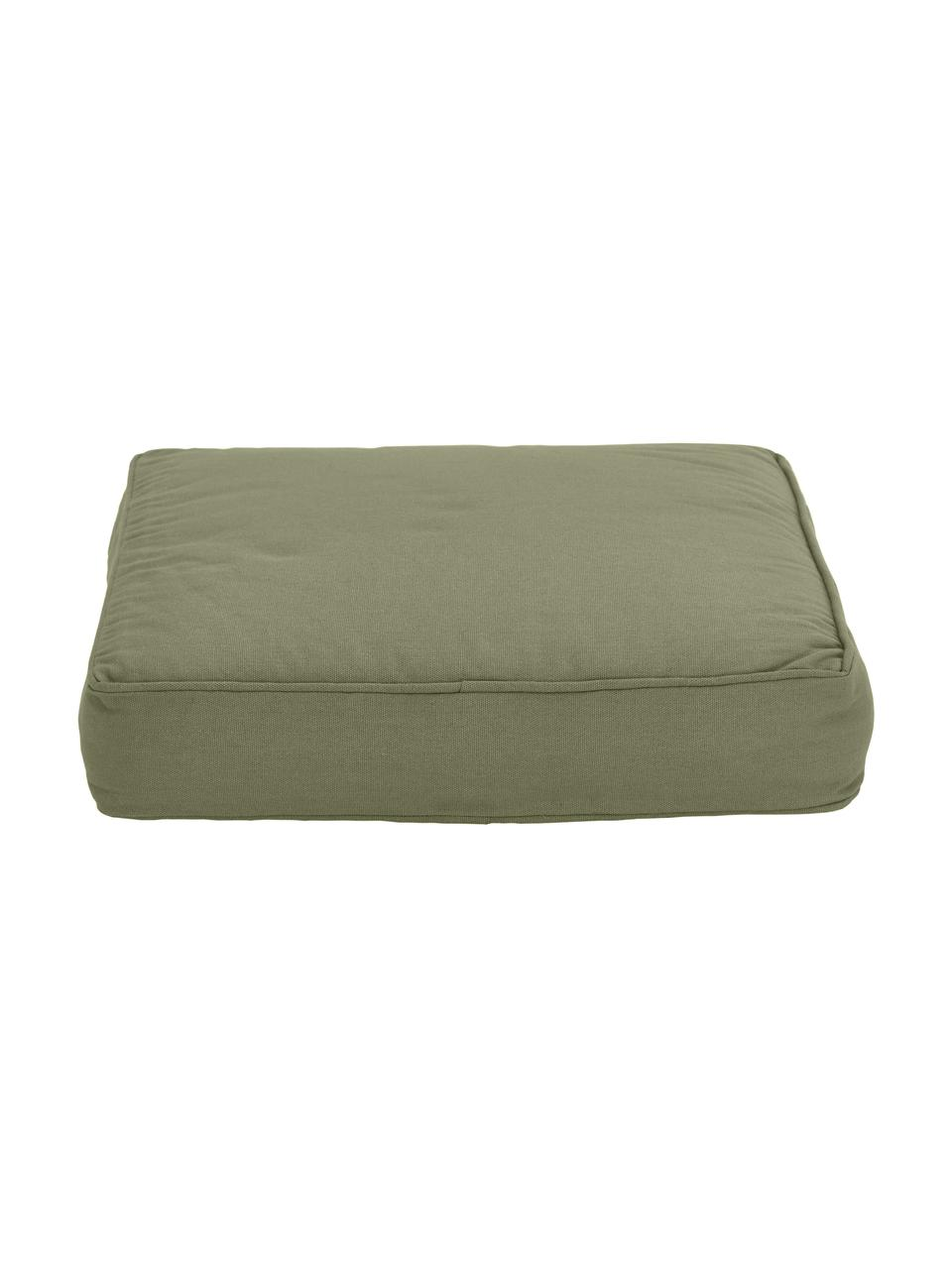 Cuscino sedia verde oliva Zoey, Rivestimento: 100% cotone, Verde, Larg. 40 x Lung. 40 cm