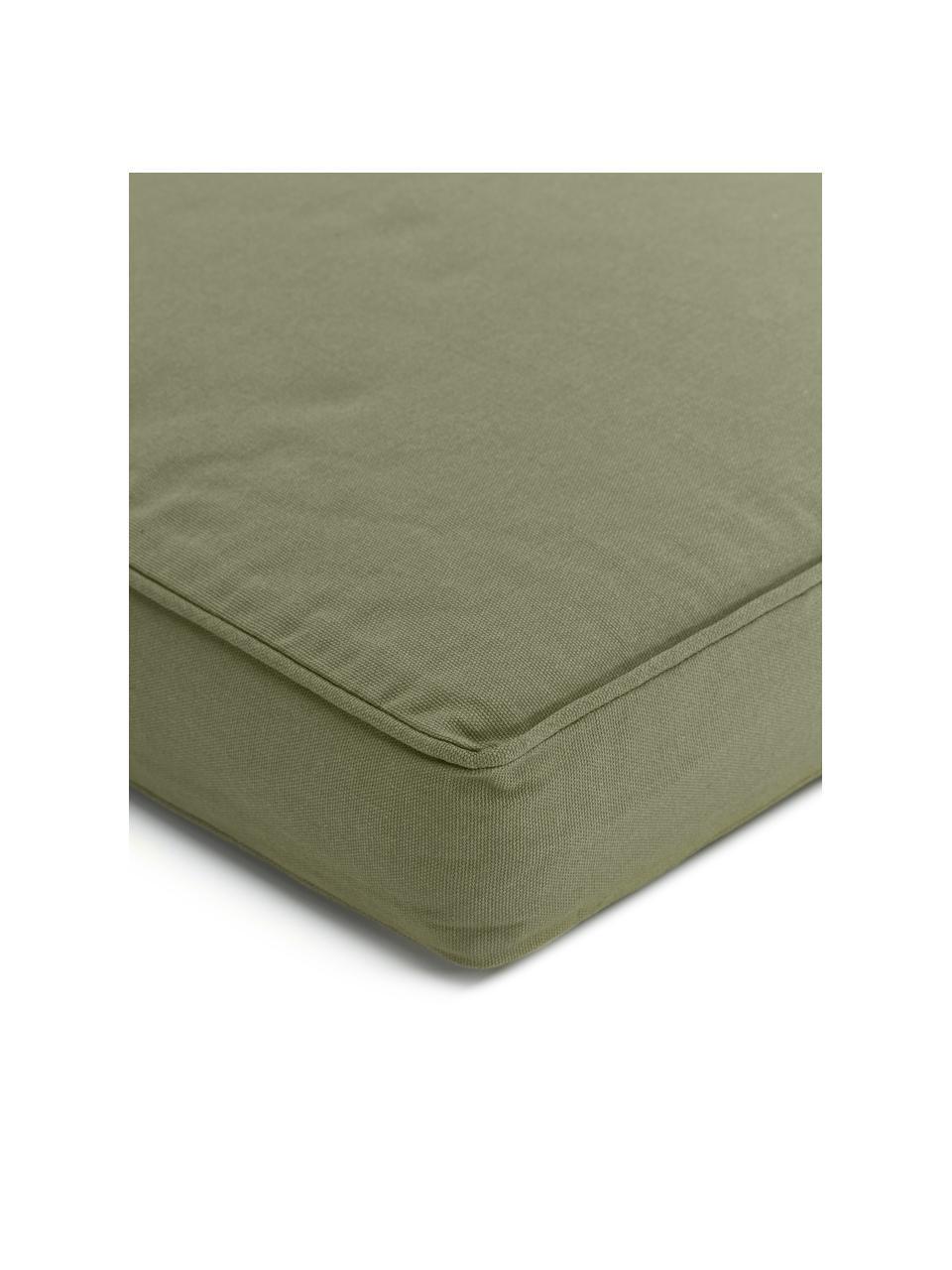 Sitzkissen Zoey in Olivgrün, Bezug: 100% Baumwolle, Grün, 40 x 40 cm