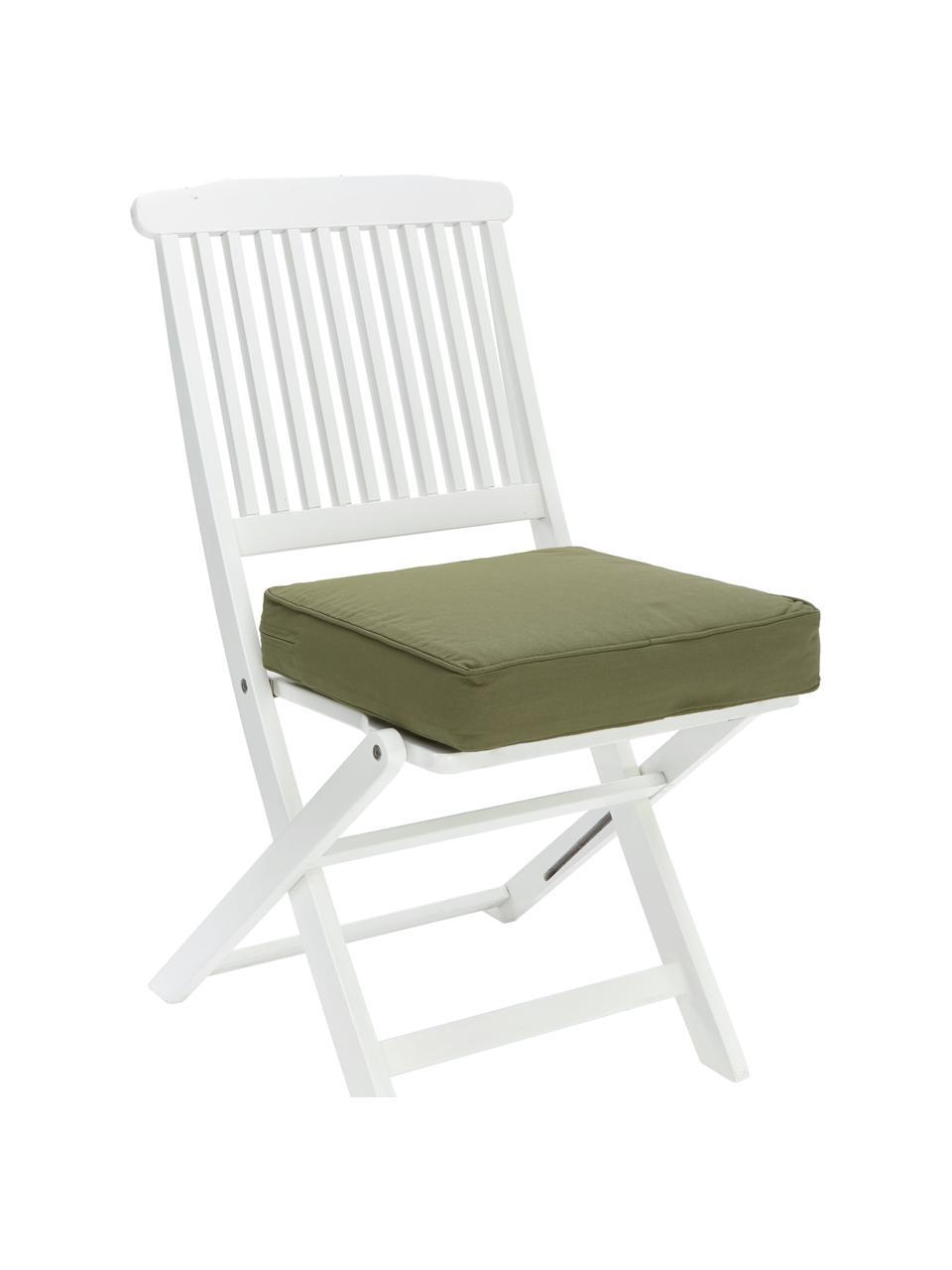 Wysoka poduszka na krzesło Zoey, Zielony, S 40 x D 40 cm