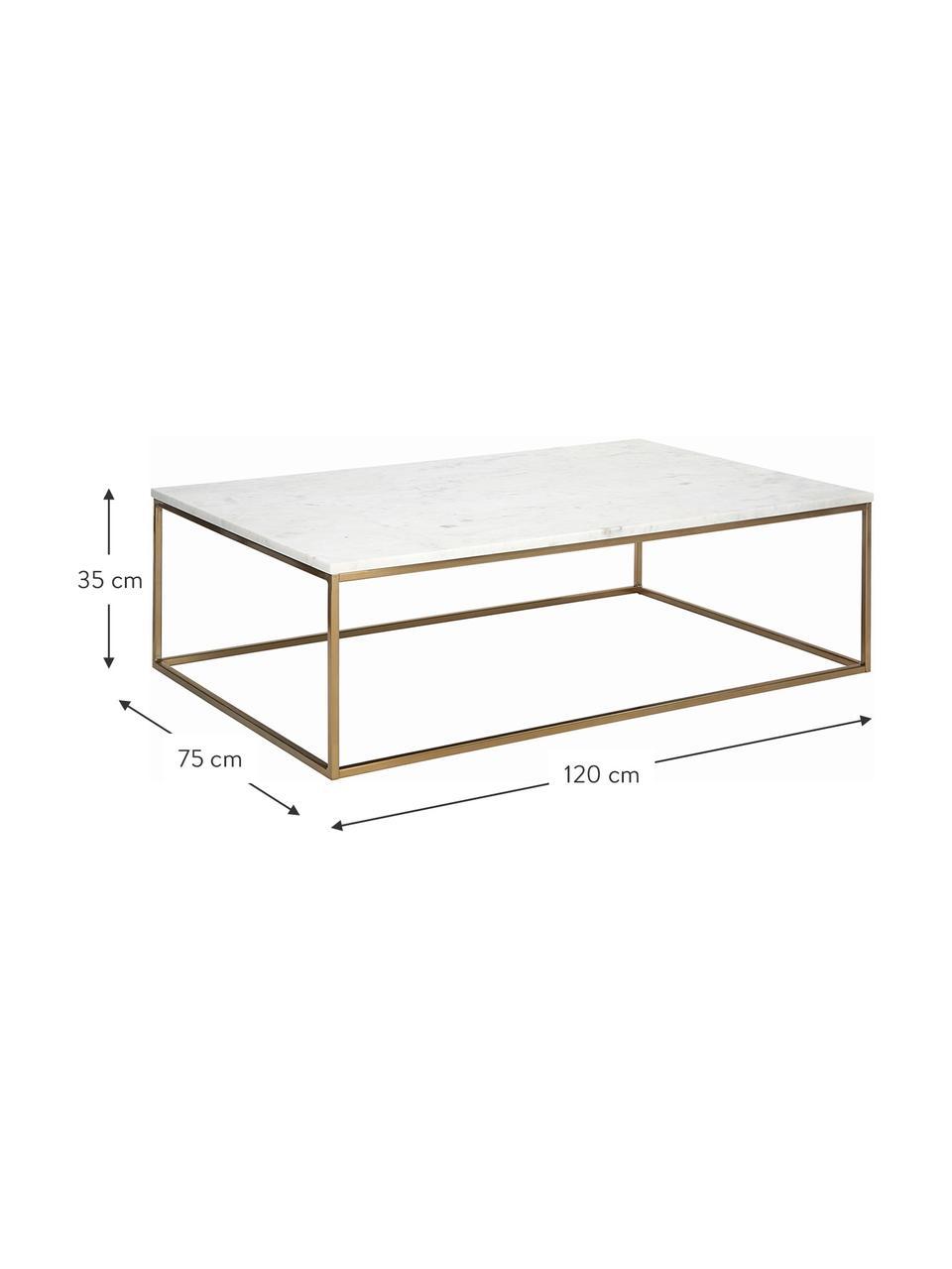 Table basse marbreAlys, Marbre blanc, couleur dorée