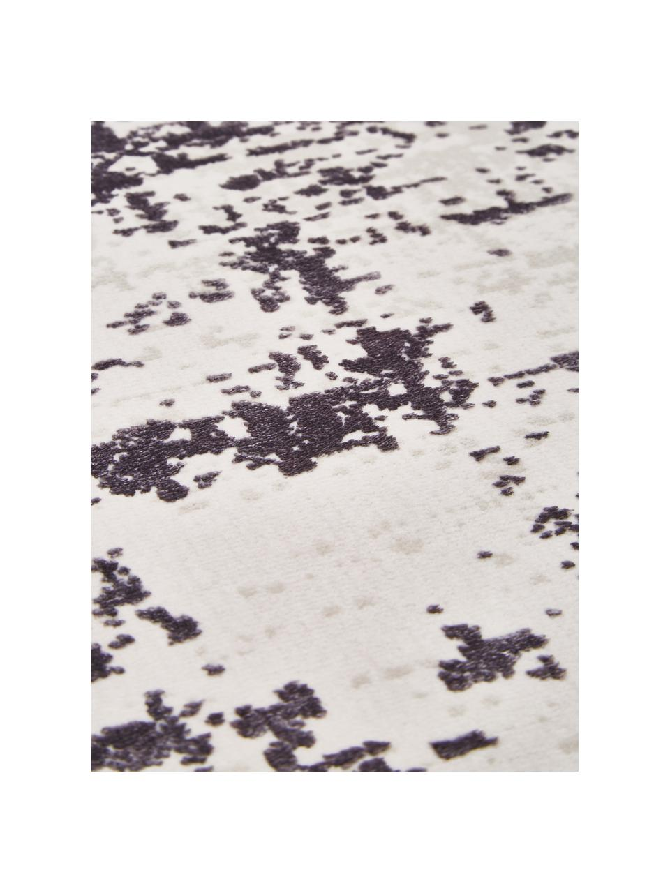 Dywan w stylu vintage z frędzlami Cordoba, Szare odcienie z lekkim fioletowym odcieniem, S 130 x D 190 cm