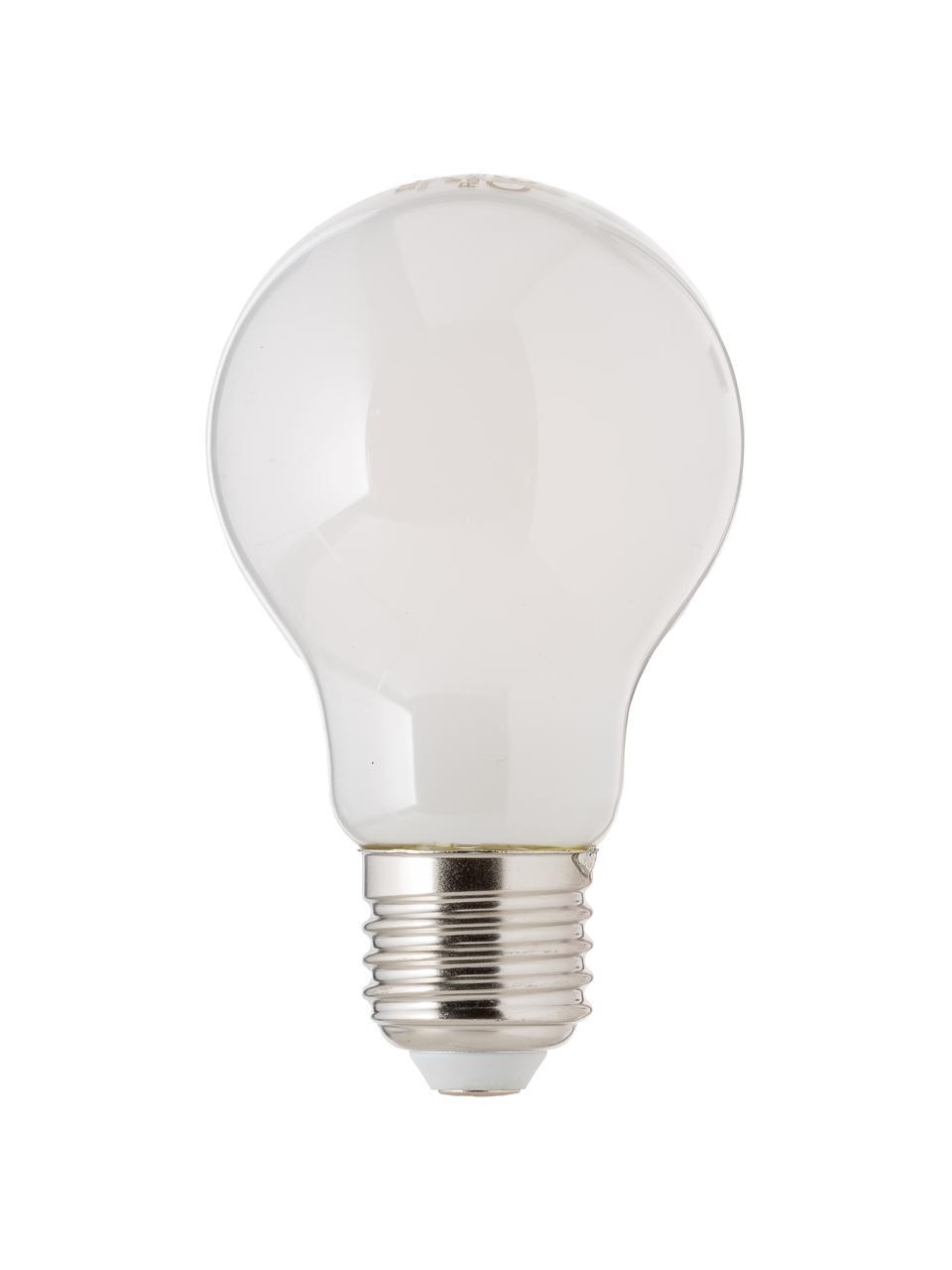 E27 Leuchtmittel, 806lm, dimmbar, warmweiß, 3 Stück, Leuchtmittelschirm: Kunststoff, Leuchtmittelfassung: Aluminium, Weiß, Ø 6 x H 10 cm