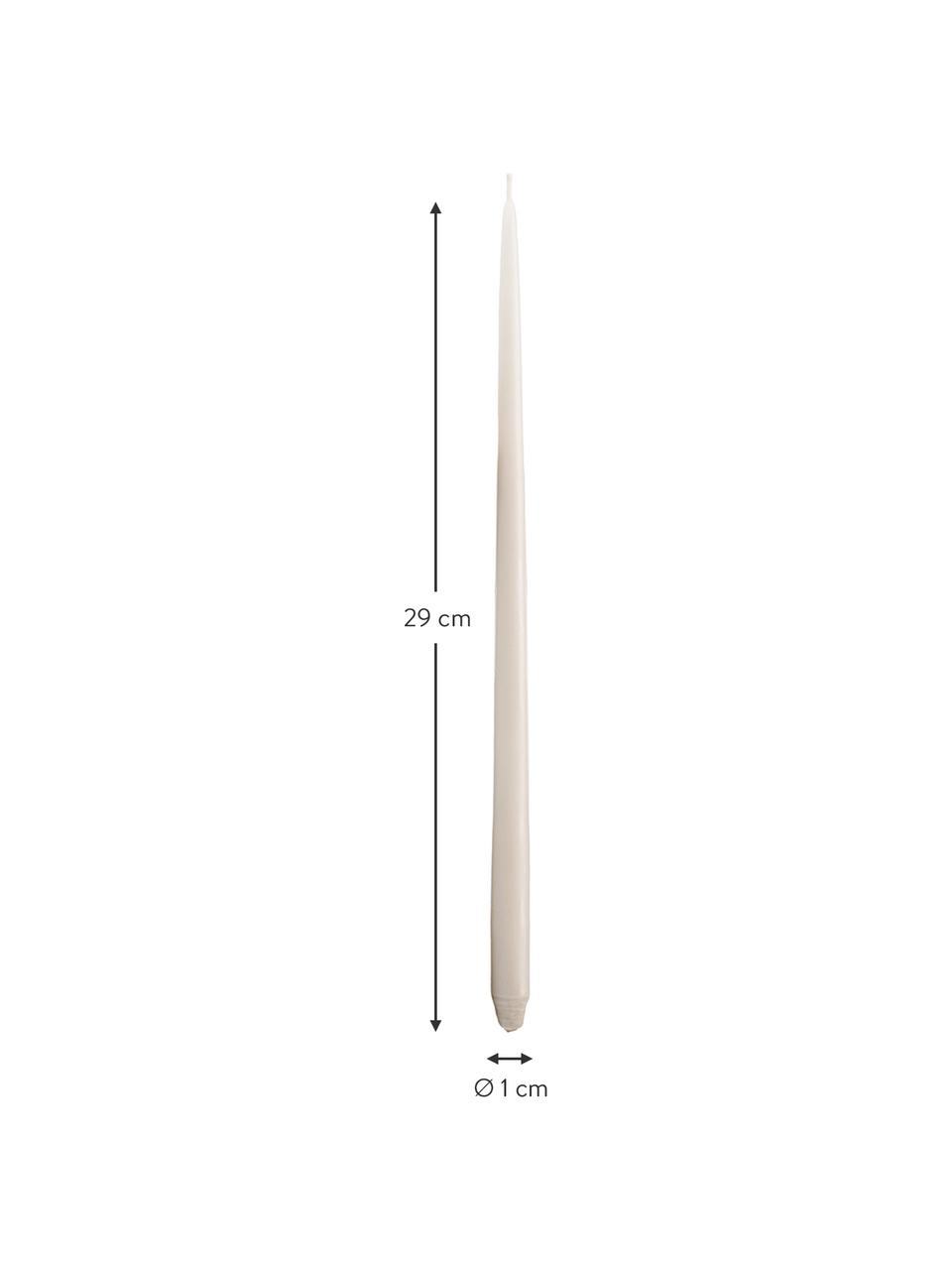 Velas pilar By Ester & Erik, 6uds., Parafina, Beige, Ø 1 x Al 29 cm