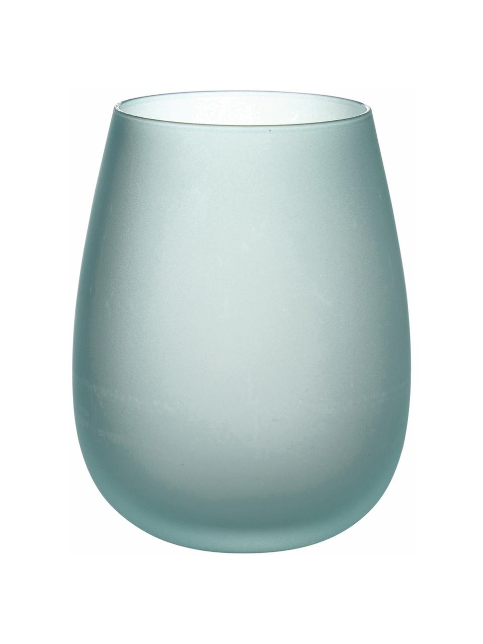 Wassergläser Happy Hour, 6er-Set, Glas, Blautöne, Ø 7 x H 11 cm