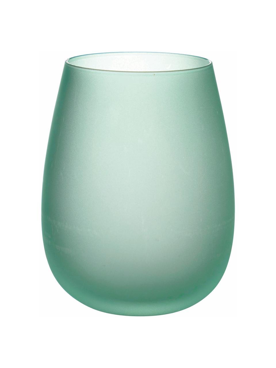 Komplet szklanek do wody Happy Hour, 6 elem., Szkło, Odcienie niebieskiego, Ø 7 x W 11 cm