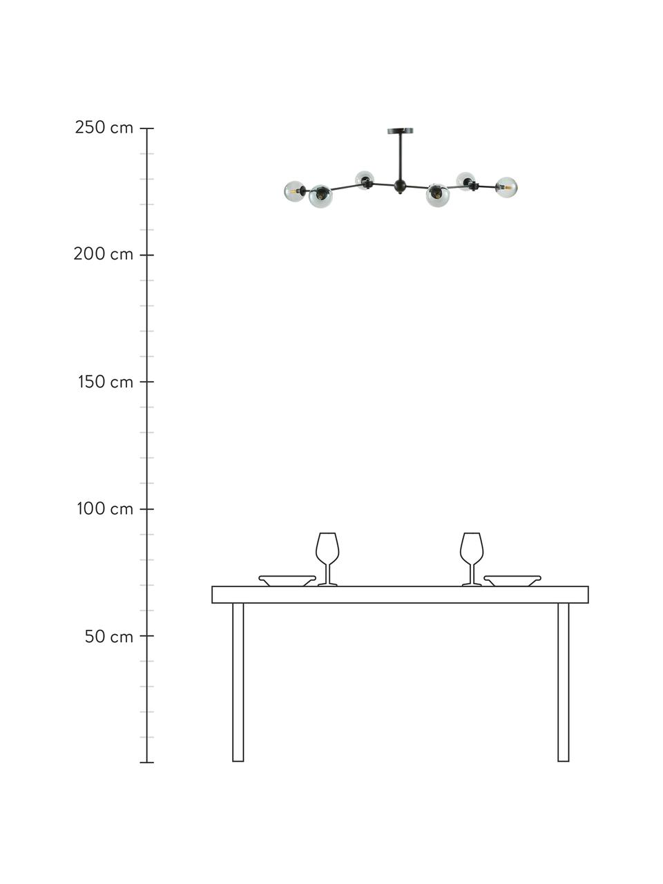 Duża lampa sufitowa Aurelia, Czarny, szary, Ø 110 x W 32 cm