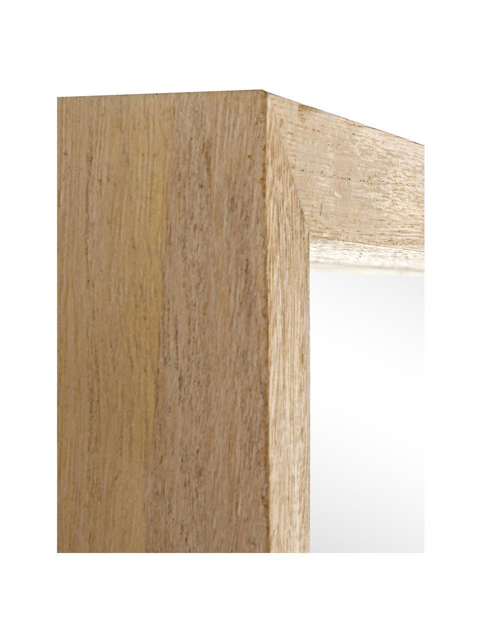 Lustro ścienne z drewna Tiziano, Drewno paulownia, S 52 x W 52 cm