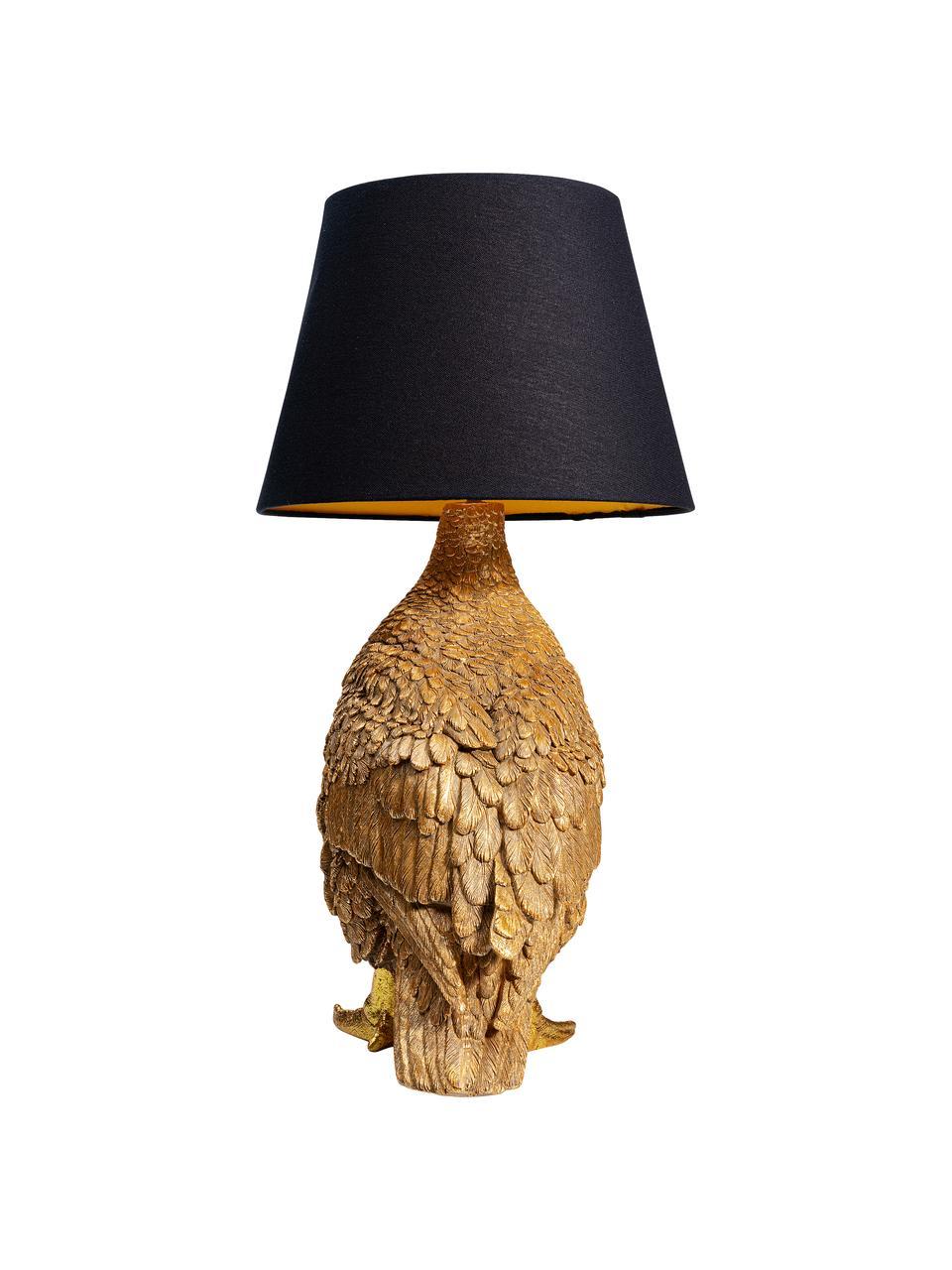 Lampa stołowa Duck, Odcienie złotego, czarny, S 31 x W 58 cm