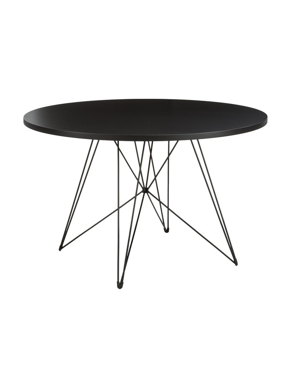 Table ronde avec tréteaux XZ3, Noir