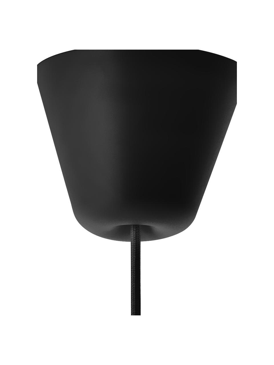 Lampa wisząca ze skórzanym paskiem Strap, Czarny, Ø 27 x W 25 cm