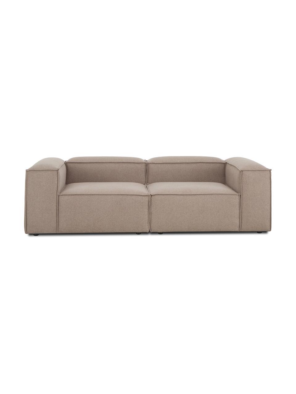 Sofa modułowa Lennon (3-osobowa), Tapicerka: 100% poliester Dzięki tka, Stelaż: lite drewno sosnowe, skle, Nogi: tworzywo sztuczne Nogi zn, Brązowy, S 238 x G 119 cm