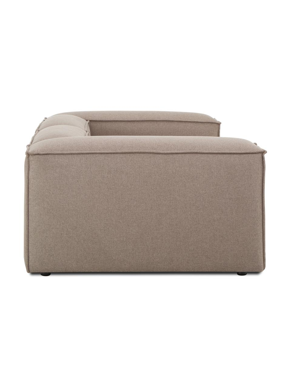 Canapé modulable 3 places tissu brun Lennon, Tissu brun