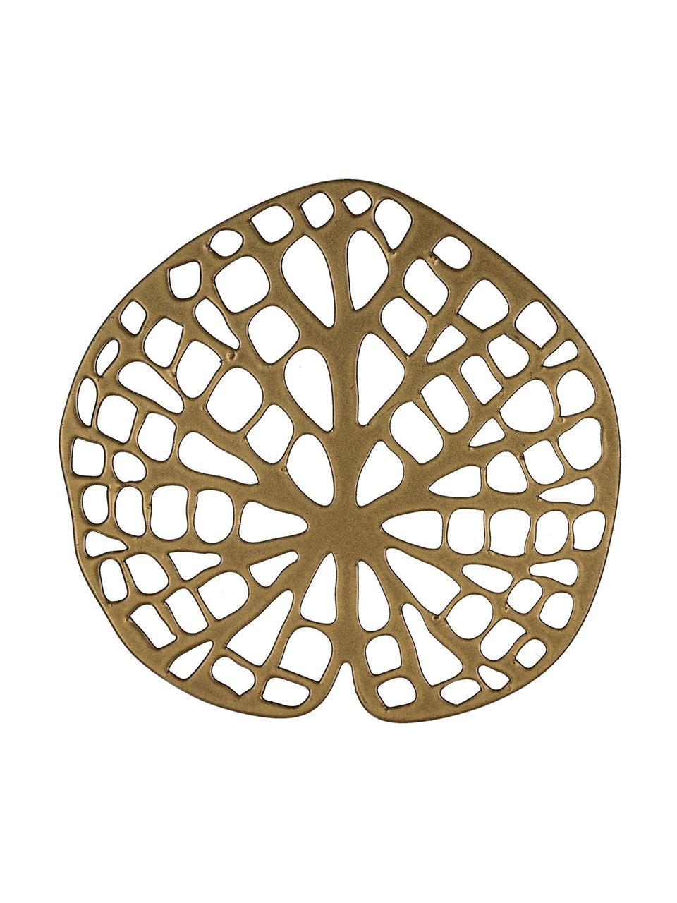 Onderzetters Orient, 6 stuks, Gecoat metaal, Messingkleurig, 12 x 1 cm