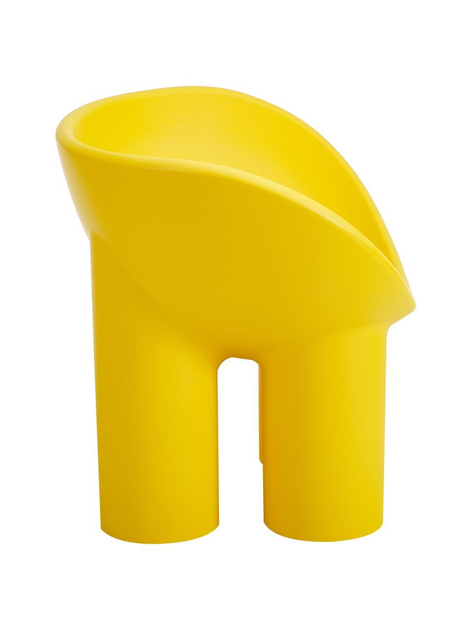 Poltrona di design color giallo Roly Poly, Polietilene, prodotto in un processo di stampaggio rotazionale, Giallo ocra, Larg. 84 x Prof. 57 cm