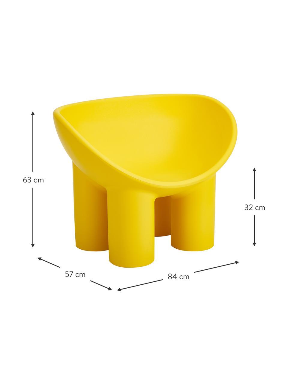 Designer Sessel Roly Poly in Ockergelb, Polyethylen, im Rotationsgussverfahren hergestellt, Ockergelb, B 84 x T 57 cm