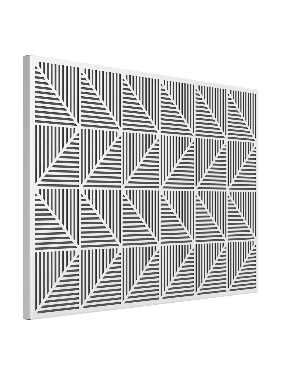 Tablero Trigon, Metal, goma espuma, Blanco, An 53 x Al 38 cm