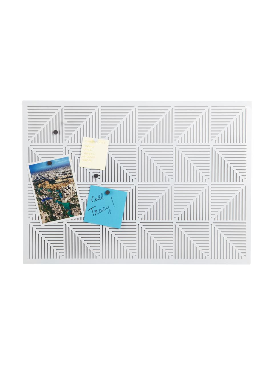 Tablica ścienna Trigon, Metal, gumowa gąbka, Biały, S 53 x W 38 cm