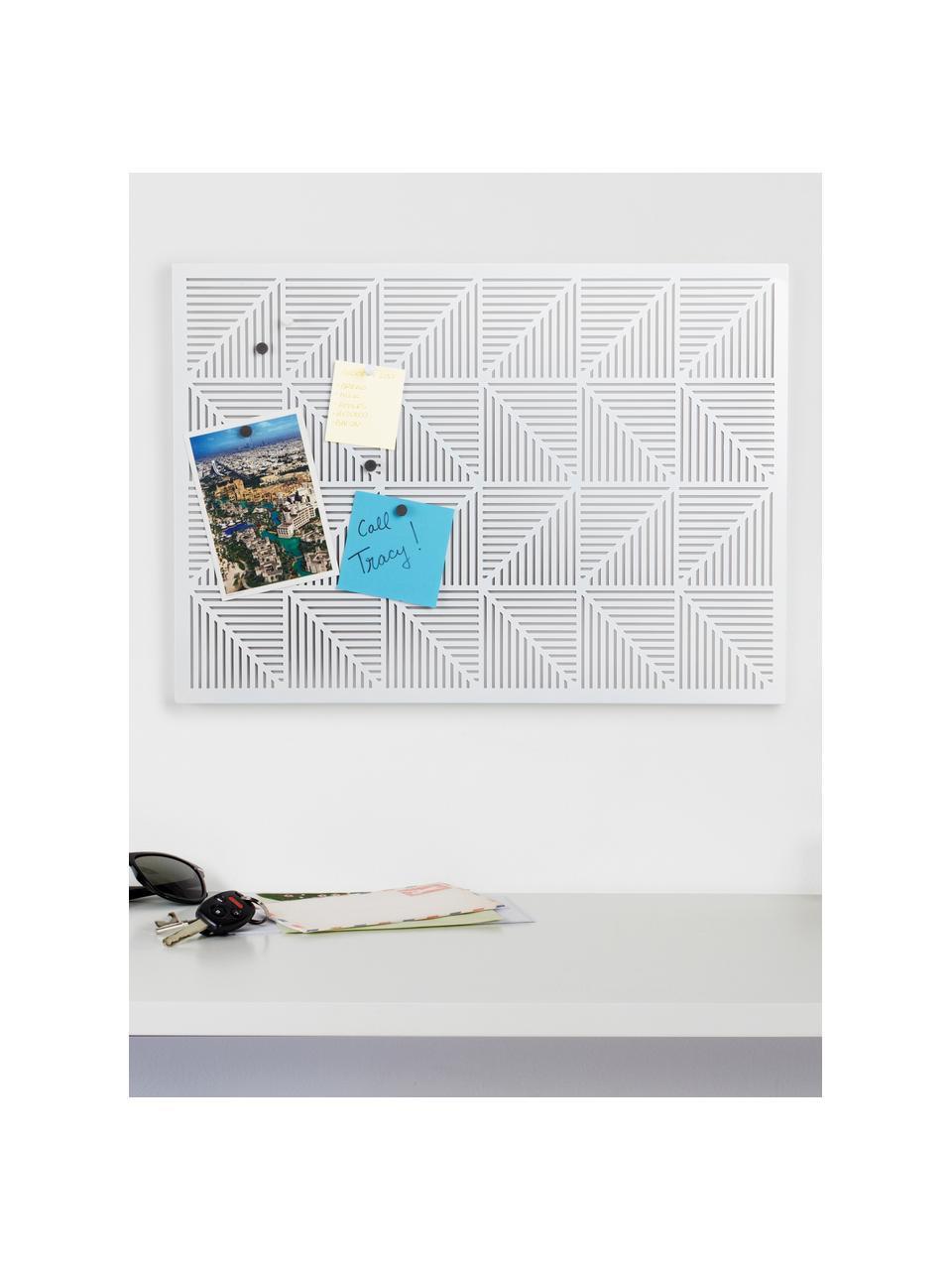 Prikbord Trigon, Metaal, sponsrubber, Wit, 53 x 38 cm