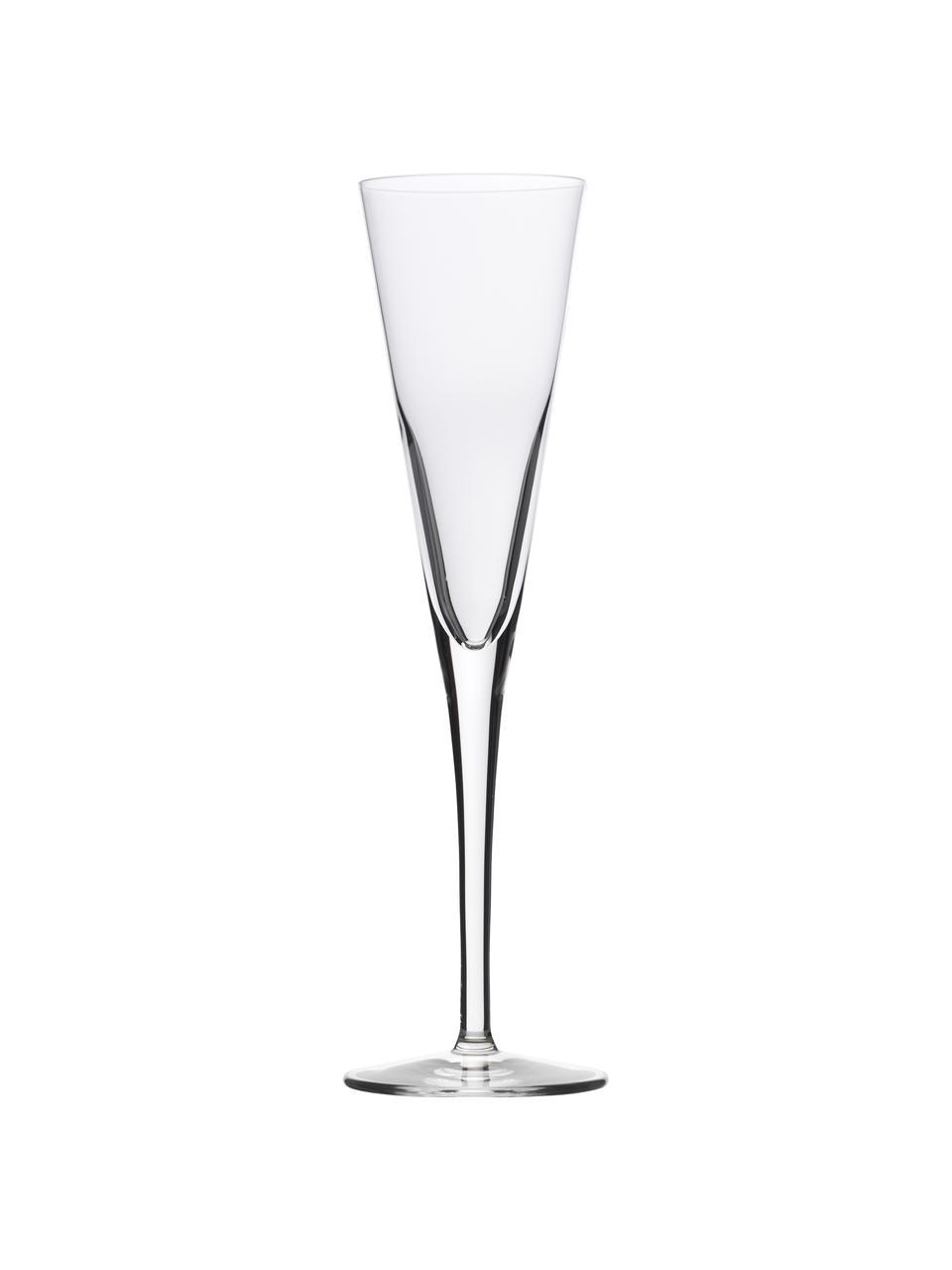 Kryształowy kieliszek do szampana  Event, 6 szt., Szkło kryształowe, Transparentny, Ø 7 x W 24 cm
